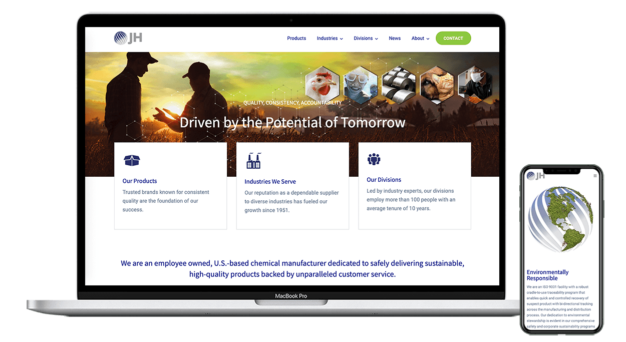 Jones Hamilton Website Launch